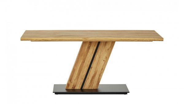 Säulentisch ZEUS 180x90x76 cm. Stahl und Eiche