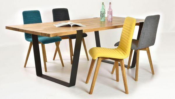 Essgruppe GRAZ auf Stahlfüßen + 6x AROSA-Stuhl