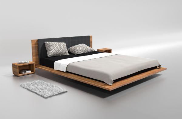 Designer-Eichenbett NEW YORK 200x200 cm. Schöner schlafen