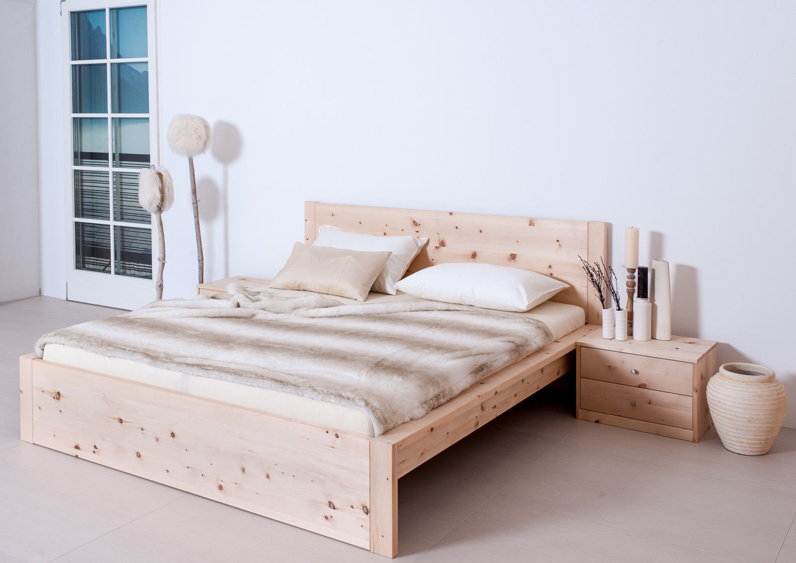 designerbett alpenkraft zirbenholz zirbenbetten betten schlafen. Black Bedroom Furniture Sets. Home Design Ideas