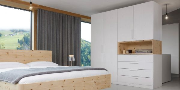 Zirben-Komplett-Schlafzimmer ALPENLAND 200x220 cm. Das schönste Zirben-Schlafzimmer im Netz