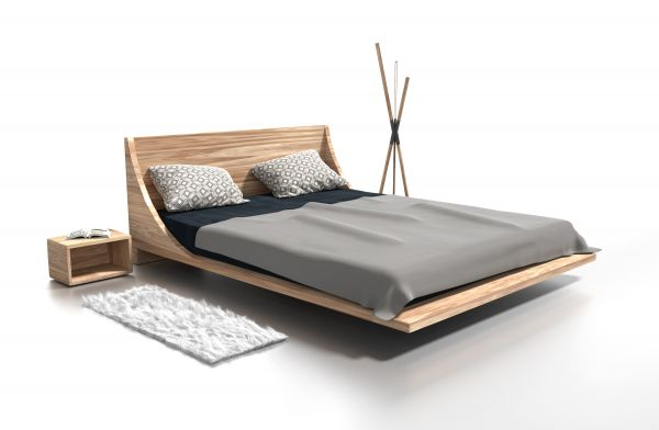 Eiche-Designerbett LOS ANGELES 160x200 cm. Schöner schlafen