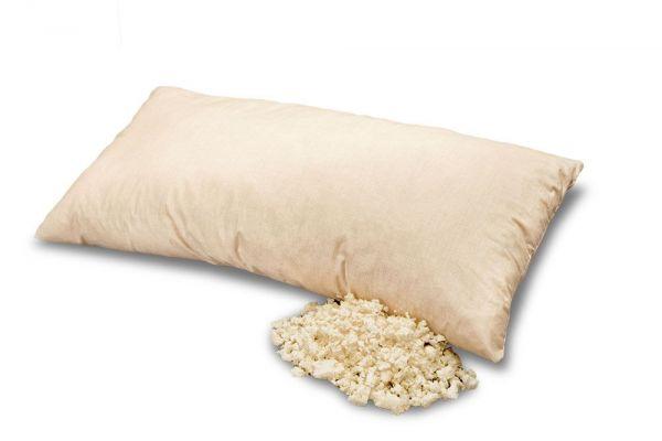 Naturlatex-Kissen. GOTS-Naturlatexflocken-Kissen mit Reißverschluß 40x60cm. Das Hygiene Kissen