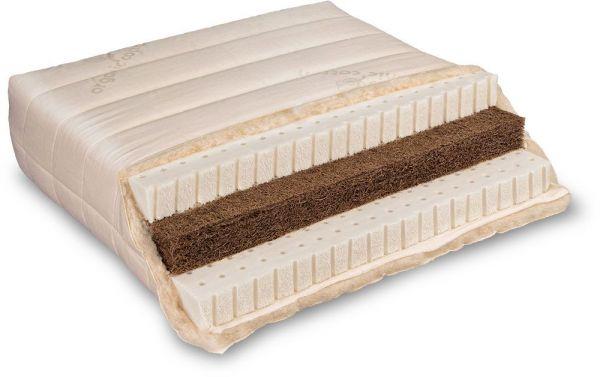 Naturlatex-Matratze VARIA LANA Sandwich 100x200 cm. Bauchschläfer-Matratze