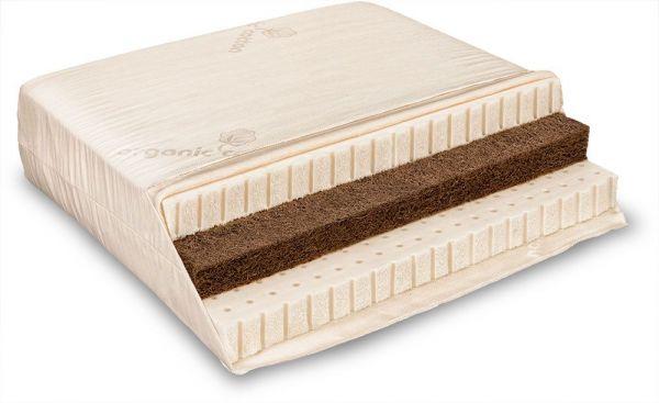 Naturlatex-Matratze VARIA SOLO Sandwich 100x200 cm. Für Rücken- und Bauchschläfer