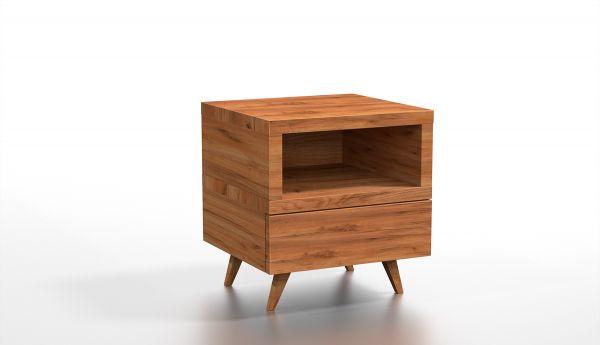 2x Designer-Nachtkasten auf 4 Beinen mit Schublade. Besser paarweise bestellen