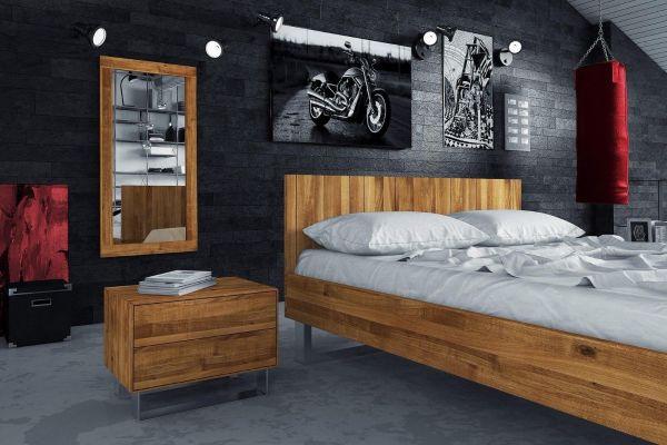 Designer-Holzbett HOT&COOL