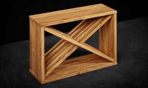 Beistell-Tisch No 23 - 70x50x25cm Wildeiche massiv
