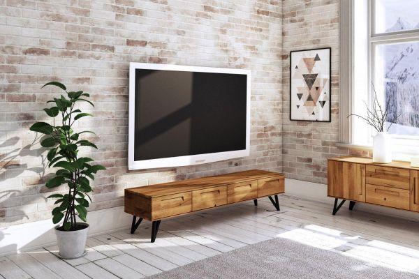 Eiche Lowbord 2621 - aus der Möbelserie POLO, Wildeiche