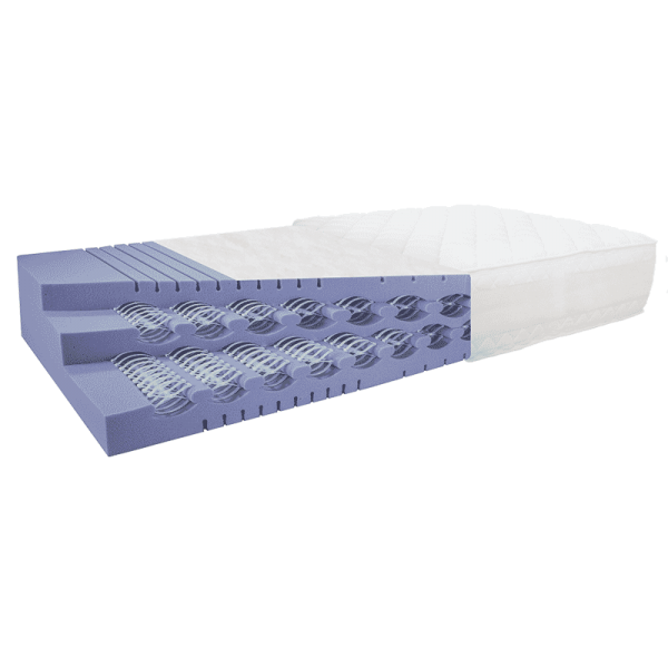 BestWell-SPRING-Matratze SUPERIOR. 90x200 cm. Doppelstöckige BOXSPRING-MATRATZE. Metallfrei. 30 cm h