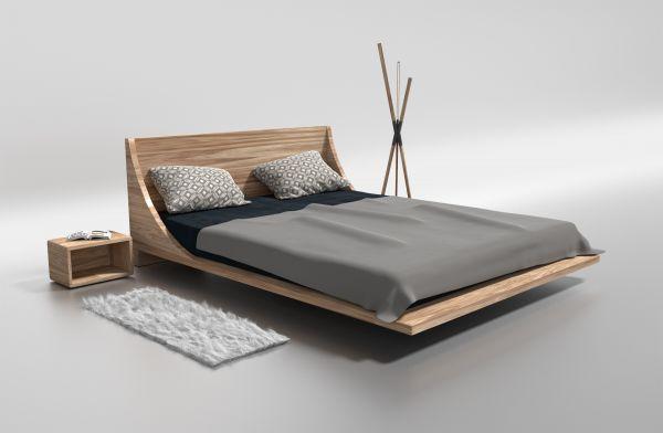 Designer-Eichenbett LOS ANGELES 200x200 cm