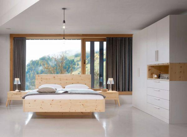 Zirben-Designerbett ALPENLAND 180x200 cm. Schnelle Lieferung. Das Zirbenbett
