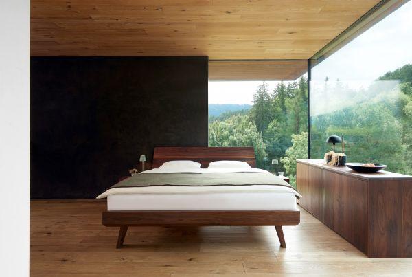 Eiche-Designerbett GRANDIOSO 180x200 cm, 17 cm Einlegetiefe