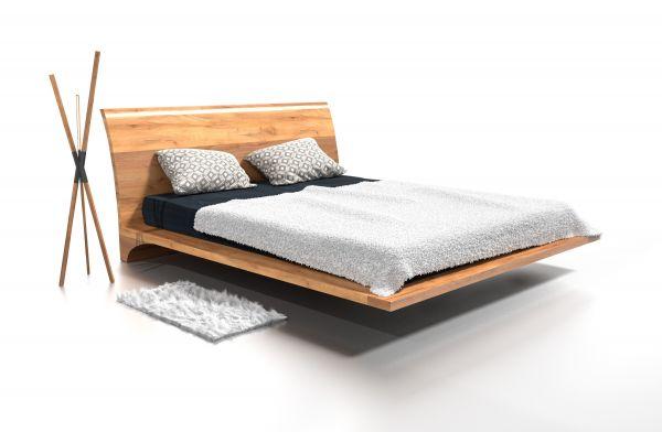 Designer-Eichenbett DUBAI 140x200 cm, massiv, naturgeölt. Traumbetten - Schöner schlafen