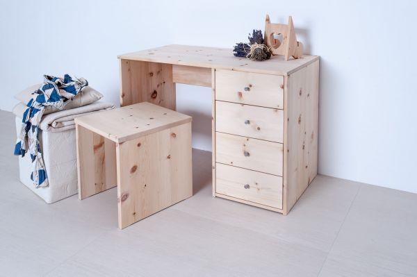 """Zirben-Schreibtisch """"WORKPLACE"""" 110x75x56 cm. Der neue Trend. Home-Office im Schlafraum!"""